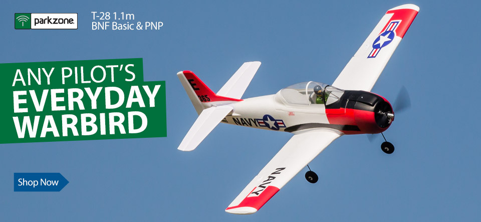 ParkZone T-28 Trojan 1.1m BNF Basic and PNP Parkflyer Warbird RC Airplane