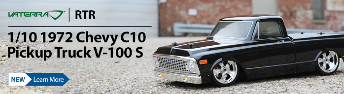 When you want to light up the night, style and profile the officially licensed 1972 Chevrolet C10 Pickup from Vaterra is the way to go. Riding low but far from slow this is one mean muscle truck.