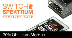 Save 20% when you buy 3 or more select Spektrum receivers with code S2SPM, through December 31, 2018