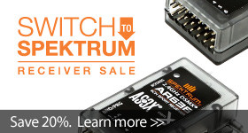 Save 20% when you buy 3 or more of the same select Spektrum receiver with code S2SPM, through April 2