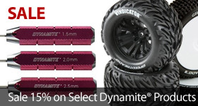 Save on select Dynamite Tires and Tools