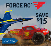 Save up to $15 on select Force RC Models