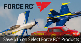 15-dollars off select Force RC vehicles