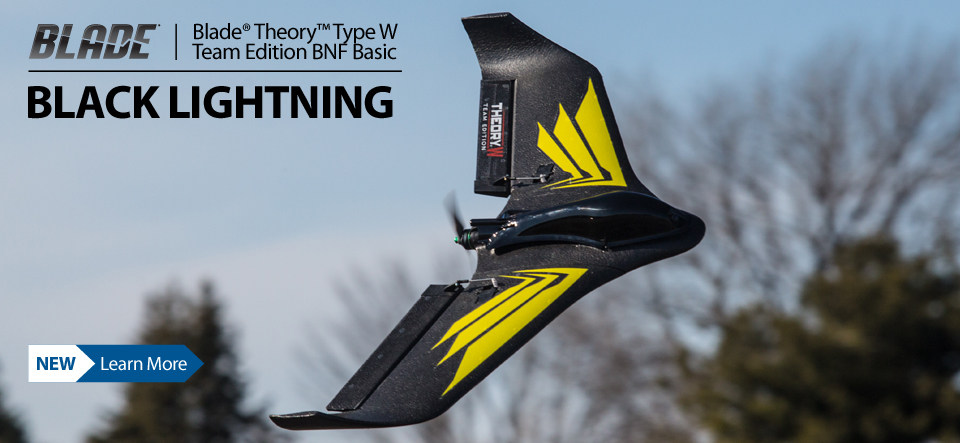 Blade Theory Type W Team Edition BNF Basic FPV Racing Flying Wing RC Airplane