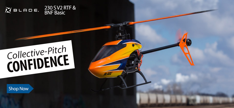 Blade 230 S V2 RTF and BNF Basic 3D Acrobatic Electric RC Helicopter with SAFE Technology