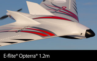 E-flite Opterra and Opterra S+ 1.2m FPV Flying Wing Sport Airplane