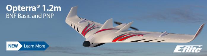 E-flite Opterra 1.2m Flying Wing Camera Platform RC Sport Airplane