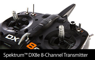 In stock Spektrum DX8e 8-Channel Transmitter