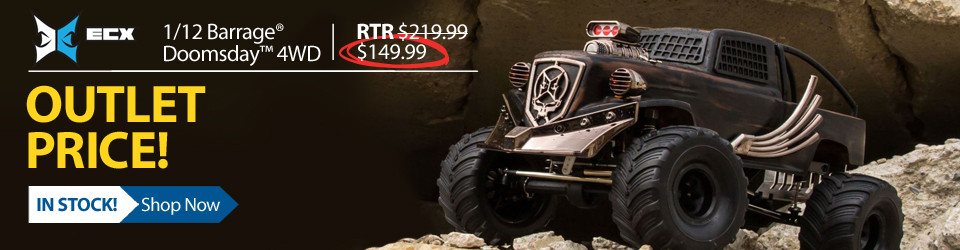 New Outlet Price! 1/12 Barrage Gen2 Doomsday 4WD Brushed RC Truck