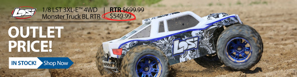 New Outlet Price! Save $150 on the Losi 1/8-scale LST 3XL-E 4WD Brushless RC Monster Truck RTR with AVC Technology