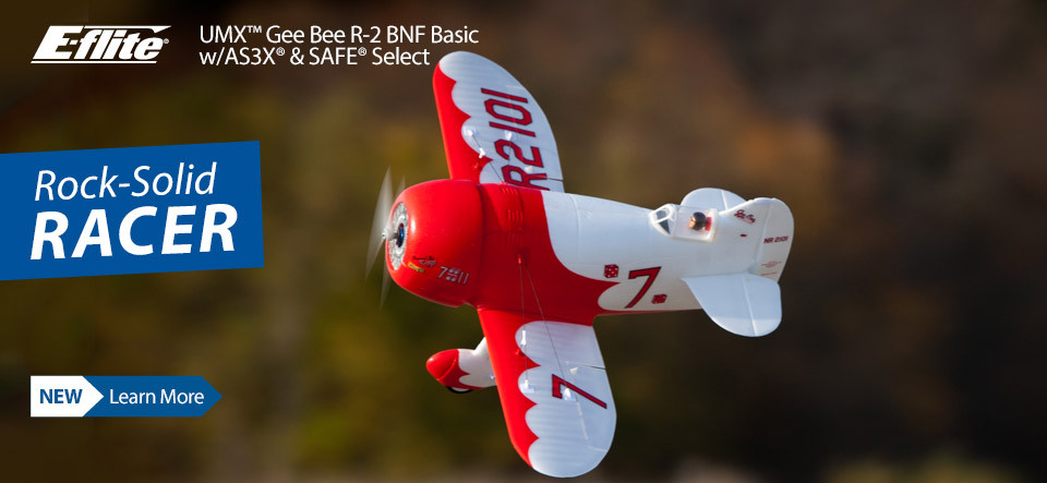 E-flite UMX Gee Bee R-2 Ultra Micro Air Racing RC Airplane