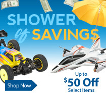 Shower of Savings Sale - Save up to $50 on Select RC Products through April 30