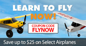 Learn To Fly Now - Save up to $25 on select HobbyZone Teach-Yourself-to-Fly Beginner RC Airplanes with code FLYNOW