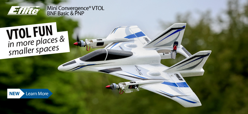 New! E-flite Mini Convergence VTOL Aircraft