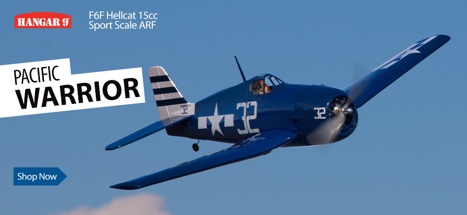 Hangar 9 F6F Hellcat 15cc Sport Scale ARF RC Warbird