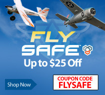 Fly SAFE Sale - Save up to $25 on select SAFE equipped airplanes with code FLYSALFE through July 31, 2018