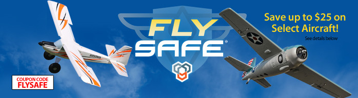 Fly SAFE - Save up to $25 on select SAFE equipped airplanes with code FLYSAFE through July 31, 2018