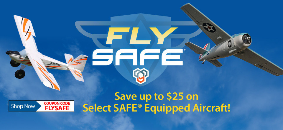 Fly SAFE Sale - Save up to $25 on select SAFE equipped airplanes with code FLYSAFE through July 31, 2018