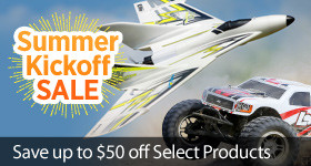 Summer Kick Off Sale - Instantly save up to $50 on select RC products through June 4
