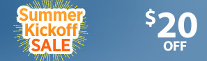 Summer Kick Off Sale - Instantly save $20 through June 4 - Click to see more deals