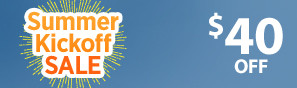 Summer Kick Off Sale - Instantly save $40 through June 4 - Click to see more deals