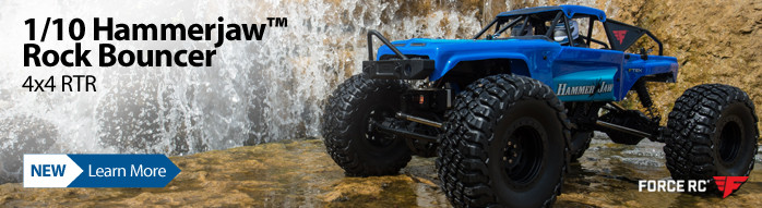 Take on any Terrain with the new 1/10 Hammerjaw Rock Bouncer 4X4 RTR by Force RC