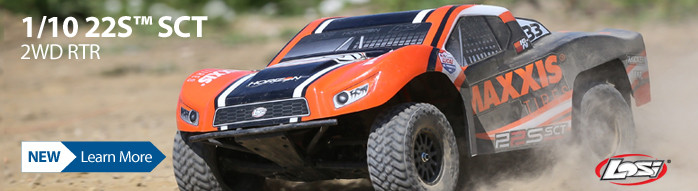 Losi is back with a vengeance in the 2wd RTR game with the 22S SCT 4WD Brushless RTR. LOS03013T1 LOS03013T2