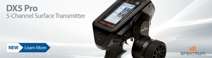 Spektrum DX5 Pro 5-channel DSMR RC radio transmitter