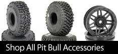 PIT BULL R/C Scale Tires are miniaturized versions of the Champion Pit Bull 1:1 tires.