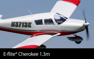 E-flite Cherokee 1.3m Park Flyer Scale Civilian RC Airplane