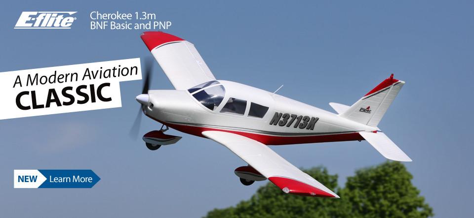 E-flite Cherokee 1.3m Scale RC Airplane