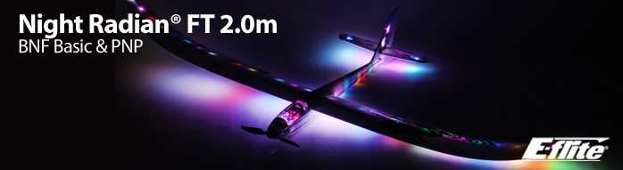 E-flite Night Radian FT 2.0m Lighted Powered Glider Sailplane