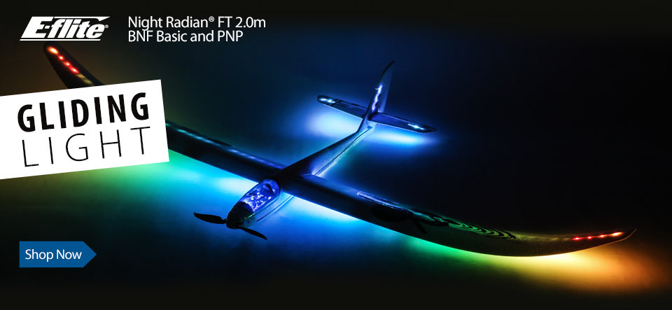 E-flite Night Radian FT 2.0m Powered Sport Sailplane Glider