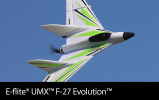 E-flite UMX F-27 Evolution BNF Basic Ultra Micro Flying Wing with SAFE Select Technology