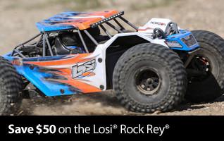 Price Cut 1/10 Rock Rey 4WD Rock Racer Kit LOS03016