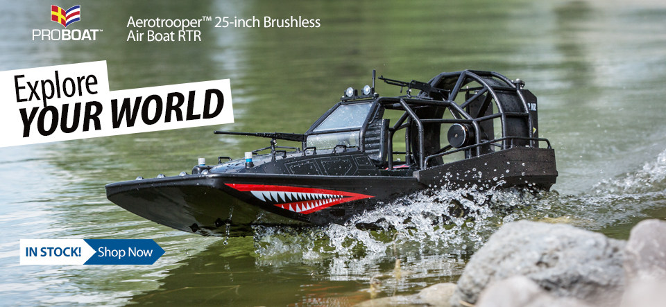 In Stock! Pro Boat Aerotrooper Air Boat RTR