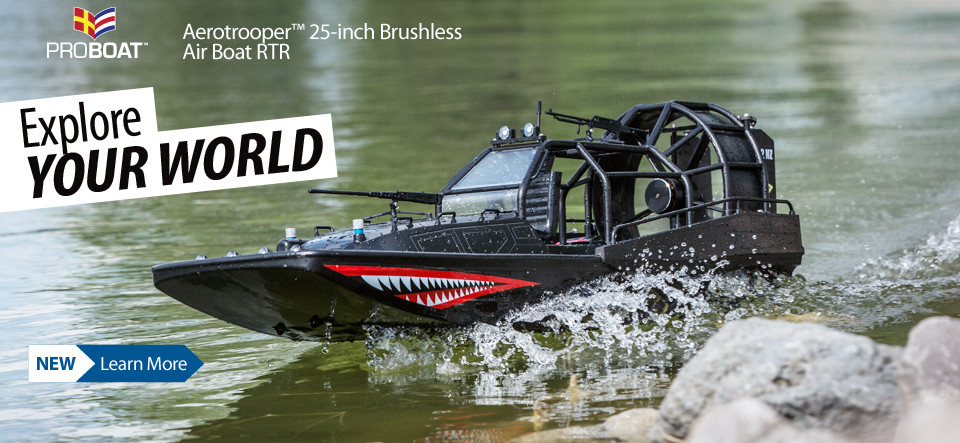 New! Pro Boat Aerotrooper 25-inch Brushless Air Boat RTR PRB08034