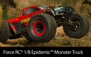 Force RC 1/8 Epidemic 4WD Monster RC Truck Brushless RTR
