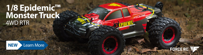 Force RC 1/8 Epidemic 4WD Brushless Monster Truck RTR FCES04000