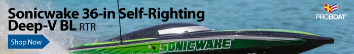 Pro Boat Sonicwake 36-inch Self-Righting Brushless Deep-V RTR RC Boat