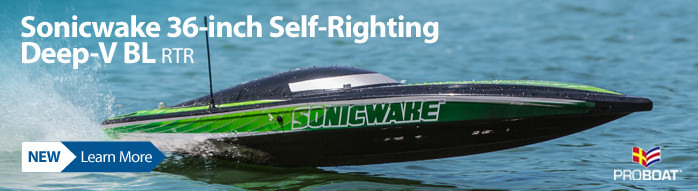 New! Pro Boat Sonicwake 36-inch Self-Righting Deep-V Brushless RTR