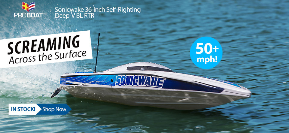In Stock! Pro Boat Sonicwake 36-inch Self-Righting Deep-V Brushless RTR