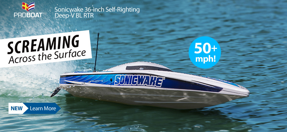 New! Pro Boat Sonicwake 36-inch Self-Righting Deep-V Brushless RTR />                </a>                <a href=