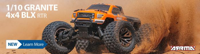 1/10 GRANITE 4x4 3S BLX Brushless RC Monster Truck RTR Orange Black ARA102666