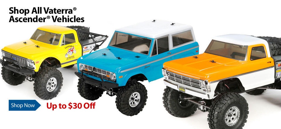 New Price on Vaterra Ascender 4WD Brushed RC Trucks
