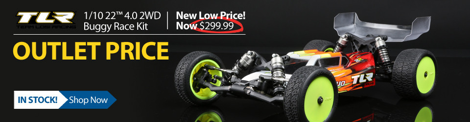 New Outlet Price! $30 off the TLR 1/10 22 4.0 2WD Buggy Race Kit