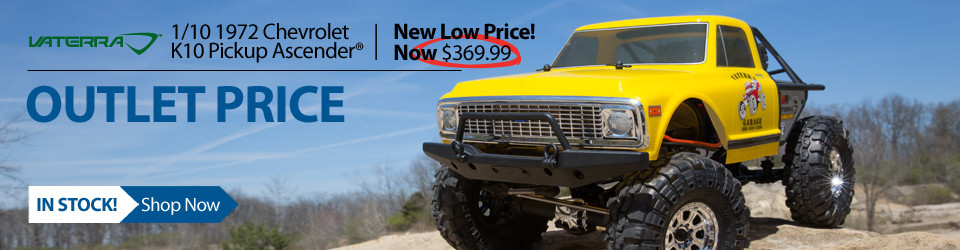 New Outlet Price! $30 off the Vaterra 1/10 1972 Chevrolet K10 Pickup Ascender 4WD Brushed RTR