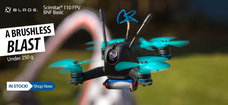 In Stock! Blade Scimitar 110 FPV BNF Basic Drone
