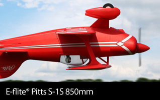E-flite Pitts S-1S 850mm Scale Civilian Aerobatic Park Flyer RC Airplane