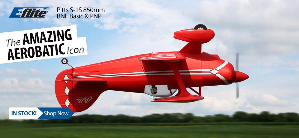 In Stock! E-flite Pitts S-1S 850mm Scale Aerobatic Biplane